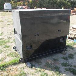 LARGE METAL STORAGE BOX W/WELDING ROD OVEN