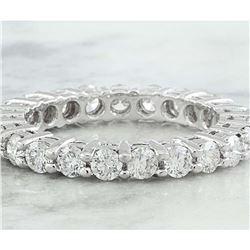 2.00 CTW Diamond 14K White Gold Eternity Ring Band