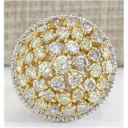 7.12 CTW Natural Diamond Ring In 18K White Gold
