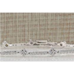 1.50 CTW Natural Diamond Bracelet In 18K White Gold
