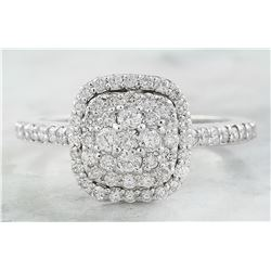 0.80 CTW Diamond 14K White Gold Ring