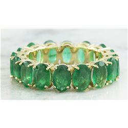 6.16 CTW Emerald 14K Yellow Gold Ring