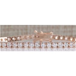 5.55CTW Natural Diamond Bracelet In 18K Rose Gold