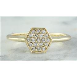 0.22 CTW 14K Yellow Gold Diamond Ring