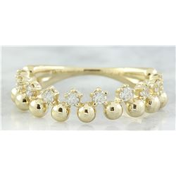 0.40 CTW Diamond 18K Yellow Gold Bubble Ring