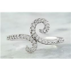 0.40 CTW 18K White Gold Diamond Ring