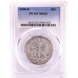 1940-S Walking Liberty Half Dollar Coin PCGS MS62