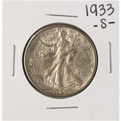 1933-S Walking Liberty Half Dollar Coin
