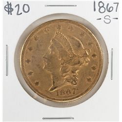 1867-S $20 Liberty Head Double Eagle Gold Coin
