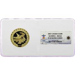 2007 Canada $300 Proof Olympics Ideals Gold Coin NGC PF69 Ultra Cameo w/Box & COA