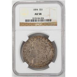 1894 $1 Morgan Silver Dollar Coin NGC AU58