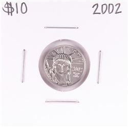 2002 $10 Platinum American Eagle Coin