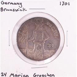1701 Germany Brunswick 24 Marien Groschen Silver Coin