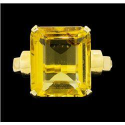 14KT Yellow Gold Ladies 8.00 ctw Citrine Ring
