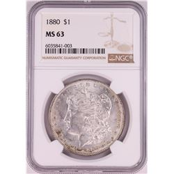 1880 $1 Morgan Silver Dollar Coin NGC MS63