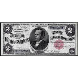 1886 $2 Windom Silver Certificate Note
