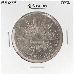 1892 Mexico 8 Reales Silver Coin