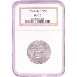 2006 $50 Platinum American Eagle Coin NGC MS70