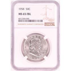 1958 Franklin Half Dollar Coin NGC MS65FBL