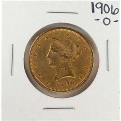 1906-O $10 Liberty Head Eagle Gold Coin