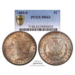 1883-S $1 Morgan Silver Dollar Coin PCGS MS63