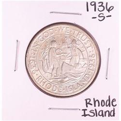 1936-S Rhode Island Commemorative Half Dollar Coin