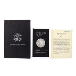 1884-CC $1 Morgan Silver Dollar Coin GSA Uncirculated w/Box & COA