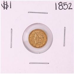 1852 Type 1 $1 Liberty Head Gold Dollar Coin