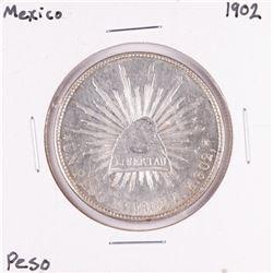 1902 Mexico Un Peso Silver Coin