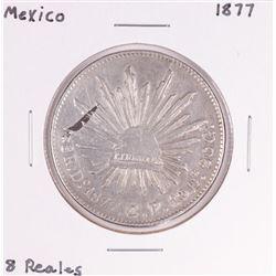 1877 Mexico 8 Reales Silver Coin