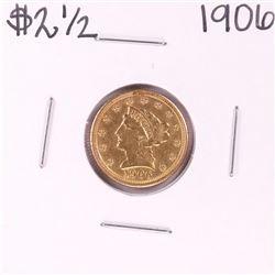 1906 $2 1/2 Liberty Head Quarter Eagle Gold Coin