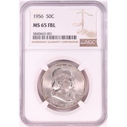 1956 Franklin Half Dollar Coin NGC MS65FBL