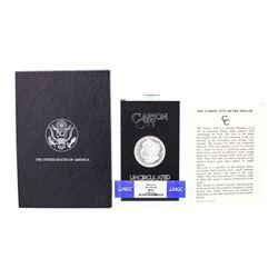 1878-CC $1 Morgan Silver Dollar Coin GSA Uncirculated NGC MS61 w/Box & COA