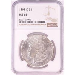 1898-O $1 Morgan Silver Dollar Coin NGC MS66