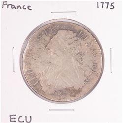 1775 France Louis XVI ECU Silver Coin