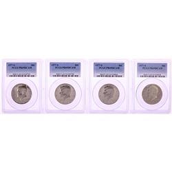 Lot of (4) 1977-S Proof Kennedy Half Dollar Coins PCGS PR69DCAM