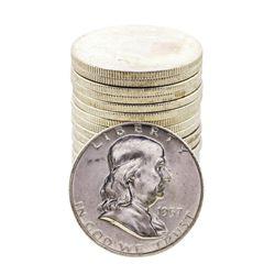 Roll of (20) Brilliant Uncirculated 1957-D Franklin Half Dollar Coins