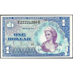 Series 661 $1 Military Payment Certificate Note