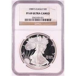 1989-S $1 Proof American Silver Eagle Coin NGC PF69 Ultra Cameo