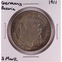 1911 Germany Bavaria 3 Mark Silver Coin