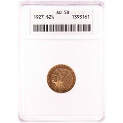 1927 $2 1/2 Liberty Head Quarter Eagle Gold Coin ANACS AU58