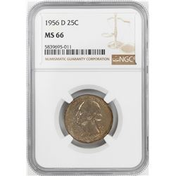 1956-D Washington Quarter Coin NGC MS66