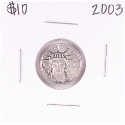 2003 $10 Platinum American Eagle Coin