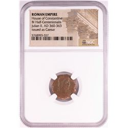 Julian II, AD 360-363 BI Half-Centenionalis Ancient Roman Empire Coin NGC Certified