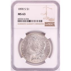 1890-S $1 Morgan Silver Dollar Coin NGC MS63