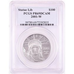 2001-W $100 Proof American Platinum Eagle Coin PCGS PR69DCAM