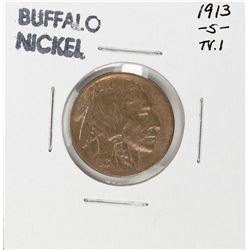 1913-S Type 1 Buffalo Nickel Coin