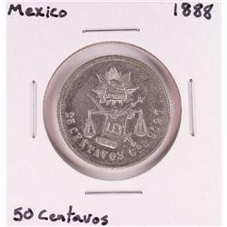 1888 Mexico 50 Centavos Silver Coin