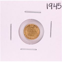1945 Mexico Dos Peso Gold Coin