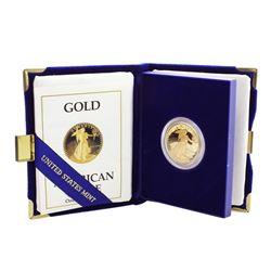 1988 $25 Proof American Gold Eagle Coin w/ Box & COA